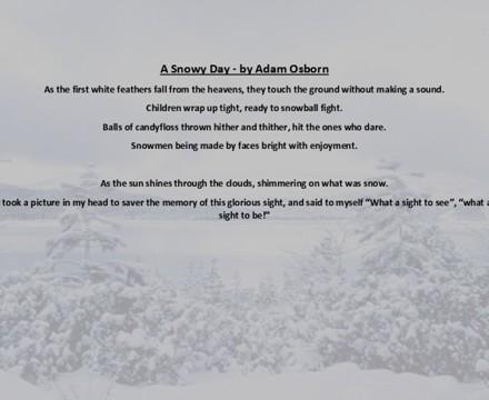 A Snowy Day poem